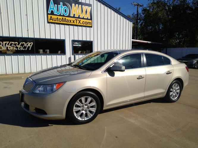 2010 GOLD BUICK LACROSSE (1G4GB5EG6AF) with an V6, 3.0L; VVT engine, located at 2529 Hemphill St, Fort Worth, TX, 76110, (817) 989-9261, 32.714649, -97.331169 - Photo #0