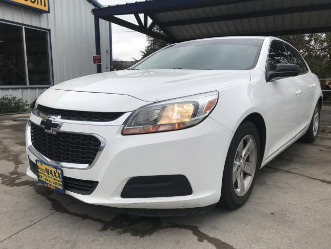 2014 WHITE CHEVROLET MALIBU (1G11A5SL8EF) with an L4, 2.5L; VVT engine, located at 5605 Crowley Road, Fort Worth, TX, 76134, (817) 989-9255, 36.148457, -115.048225 - Photo #0