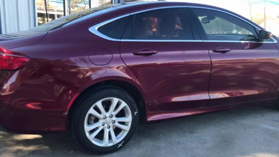 2015 MAROON CHRYSLER 200 (1C3CCCAB8FN) with an L4, 2.4L engine, located at 5605 Crowley Road, Fort Worth, TX, 76134, (817) 989-9255, 36.148457, -115.048225 - Photo #0