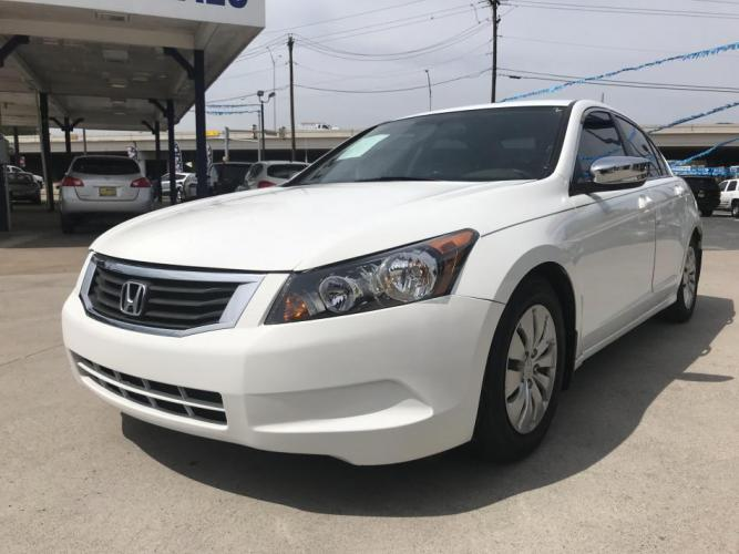2010 WHITE HONDA ACCORD (1HGCP2F37AA) with an L4, 2.4L engine, 5 SPEED AUTOMATIC transmission, located at 5605 Crowley Road, Fort Worth, TX, 76134, (817) 989-9255, 36.148457, -115.048225 - Photo #0