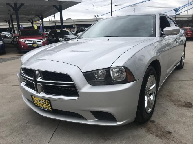 2014 SILVER DODGE CHARGER (2C3CDXBG1EH) with an V6, 3.6L; FFV engine, located at 5605 Crowley Road, Fort Worth, TX, 76134, (817) 989-9255, 36.148457, -115.048225 - Photo #0