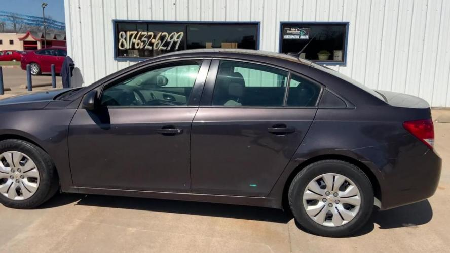 2014 GRAY CHEVROLET CRUZE (1G1PA5SH1E7) with an L4, 1.8L; FFV; DOHC engine, 6 SPEED AUTOMATIC transmission, located at 5605 Crowley Road, Fort Worth, TX, 76134, (817) 989-9255, 36.148457, -115.048225 - Photo #5
