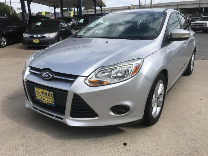 2013 SILVER FORD FOCUS (1FADP3F28DL) with an L4, 2.0L; FFV engine, located at 5605 Crowley Road, Fort Worth, TX, 76134, (817) 989-9255, 36.148457, -115.048225 - Photo #0