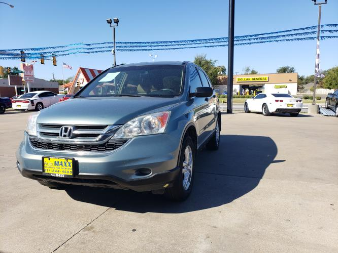 2010 GREEN HONDA CR-V (5J6RE3H59AL) with an L4, 2.4L engine, 5 SPEED AUTOMATIC transmission, located at 5605 Crowley Road, Fort Worth, TX, 76134, (817) 989-9255, 36.148457, -115.048225 - Photo #0