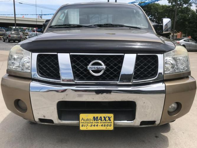 2005 GOLD NISSAN TITAN (1N6BA07A45N) with an V8, 5.6L; FFV engine, located at 5605 Crowley Road, Fort Worth, TX, 76134, (817) 989-9255, 36.148457, -115.048225 - Photo #1