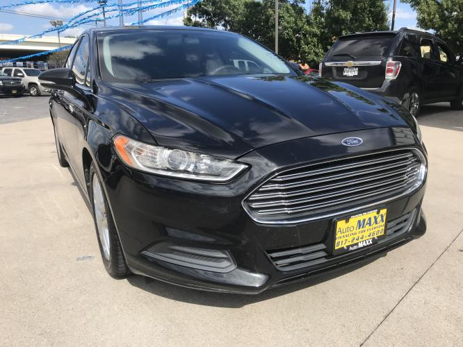2014 BLACK FORD FUSION (3FA6P0H72ER) with an L4, 2.5L engine, located at 5605 Crowley Road, Fort Worth, TX, 76134, (817) 989-9255, 36.148457, -115.048225 - Photo #2